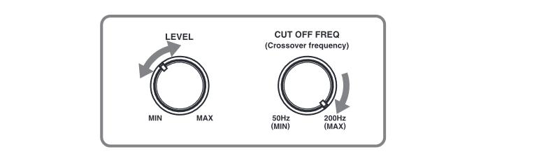 Настройки граничной частоты и уровня громкости